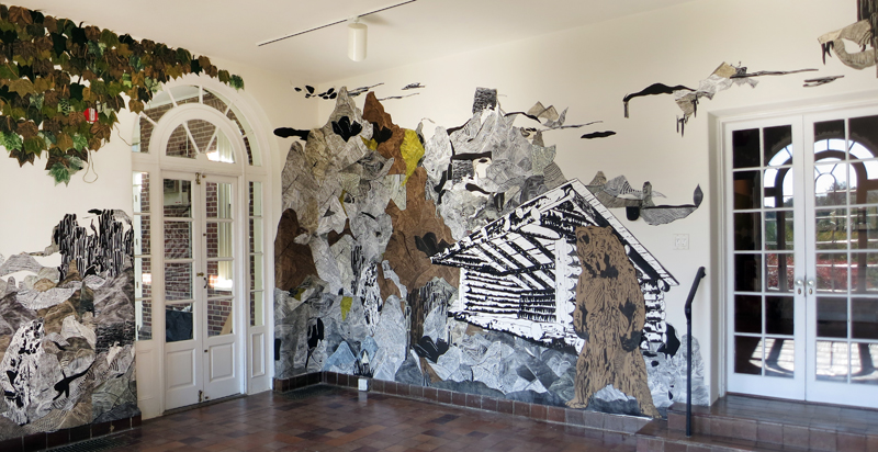 Hilary Lorenz, Wave Hill, North and West Wall, Oct-Dec 2014