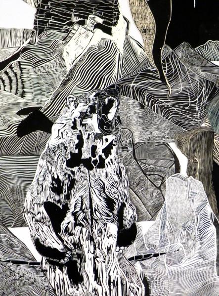 Bear, Hilary Lorenz, Print Installation