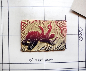 Octopus Linoleum Block