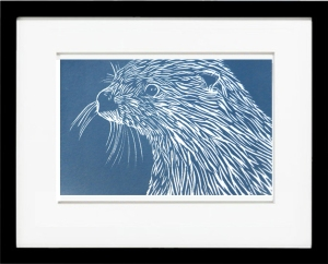 Framed River Otter