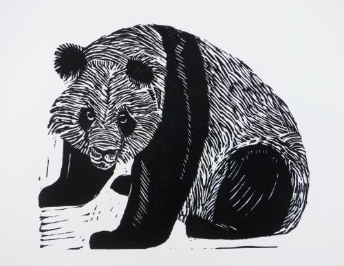 Panda_linocut