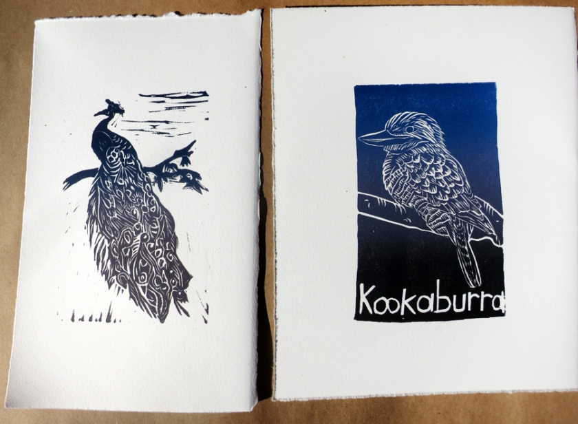 Peacock and Kookaburra