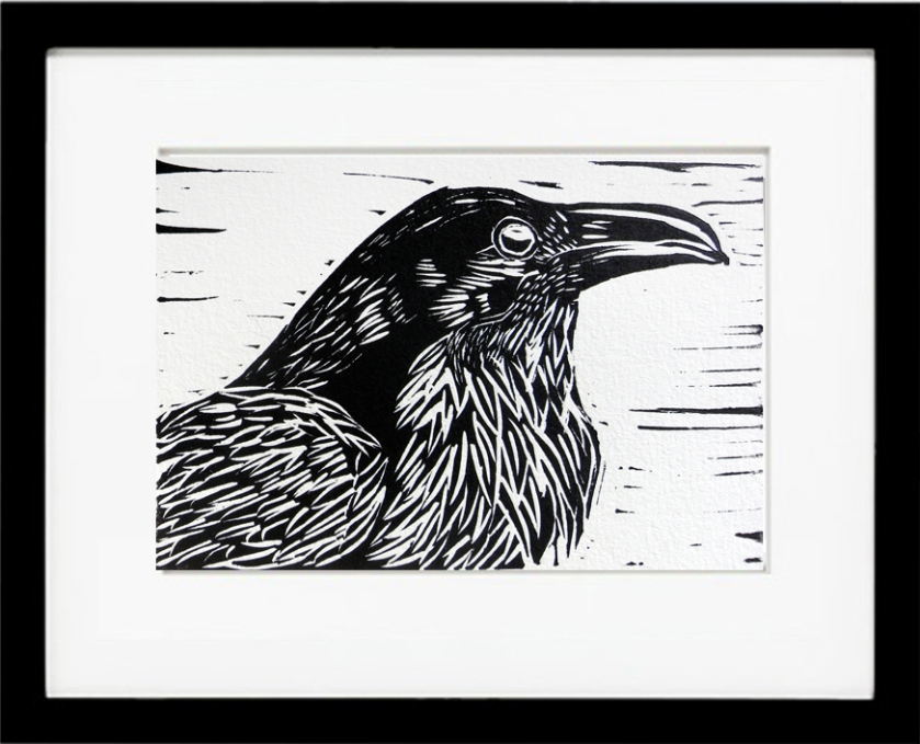 Raven_framed