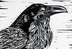 Raven_lino_cut