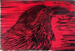 Raven Woodcut