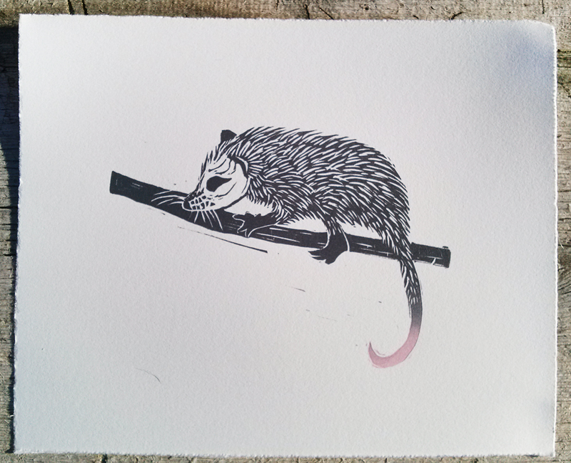 hilary_lorenz_linocut_possum