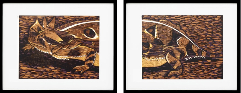 Lisa Studier, Horned Lizard Diptych .
