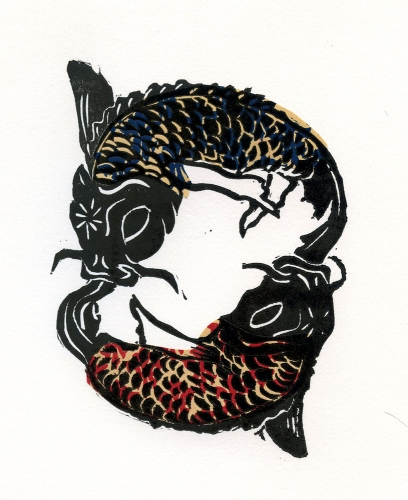 stonetrigger_press_linocut_pisces