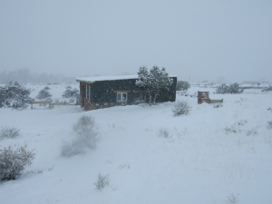Printshop in snowstorm