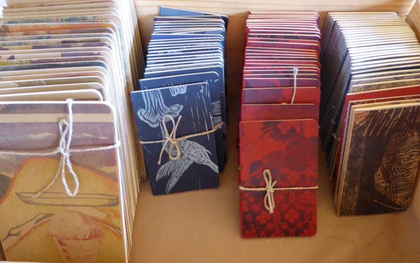 Hand printed journals, Stonetrigger Press