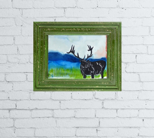 Elk_on_Wall_Art