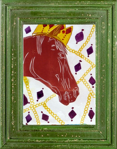 Golden Crown Horse - Click to purchase