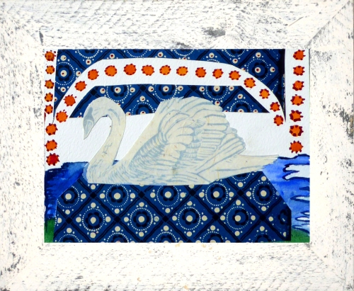 White_Framed_Swan