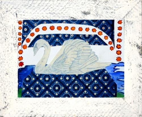 White_Framed_Swan