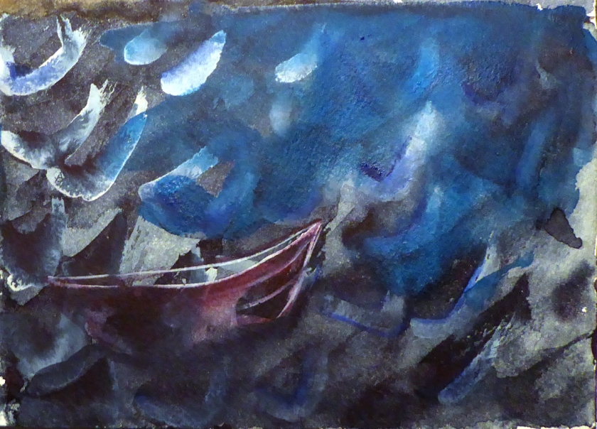 canoe_on_water