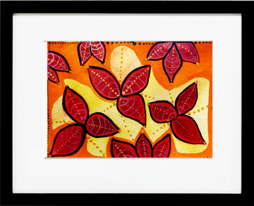 Framed_Red_Flower_Watercolor