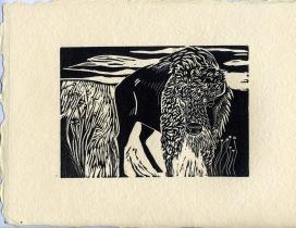 Awesome_buffalo_linocut_handmade_paper_Lorenz