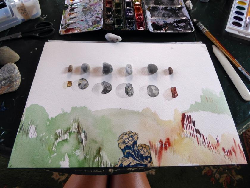 Hilary_Lorenz_CScape_Dune_Shack_watercolor_rock_drawing
