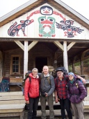 Hilary Lorenz, Steve Hossack, Sarah Frey, Nancy Morrill at Bennett Lake Camp