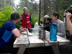My first night on the trail, and first round of Bingo with fellow hikers.