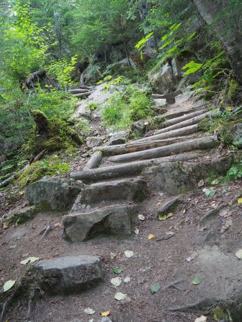 The beginning of the Chilkoot Trail
