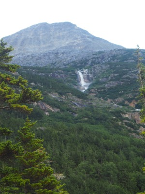 small waterfall on AK side. of Chilkoot Trail