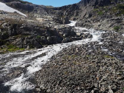 Melting snow on the Chilkoot